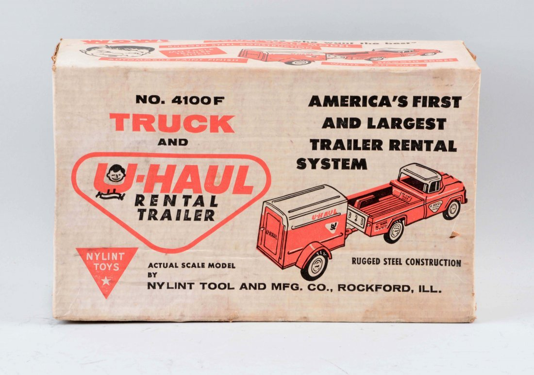 Pressed Steel Ny-Lynt Uhaul Rental Trailer Truck. - 2