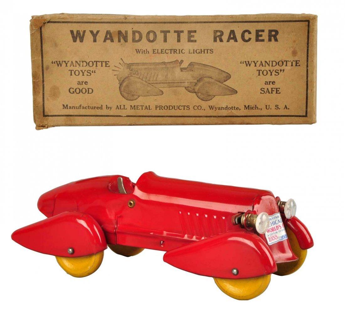 Pressed Steel Wyandotte Streamline Race Car.
