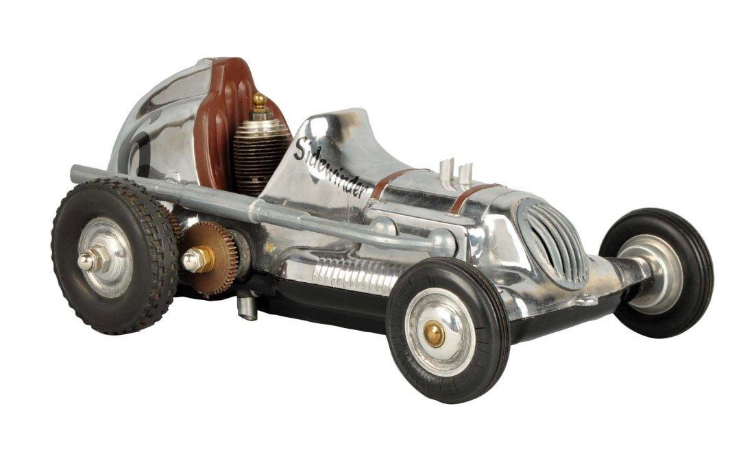 Cox Thimble Drome Silver Sidewinder Race Car.