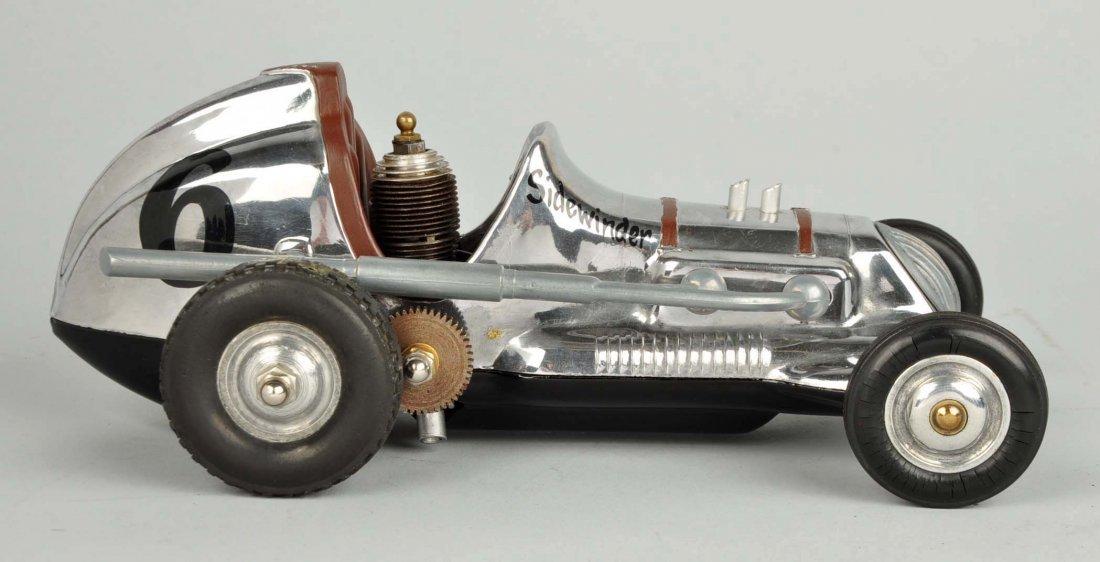 Cox Thimble Drome Silver Sidewinder Race Car. - 3