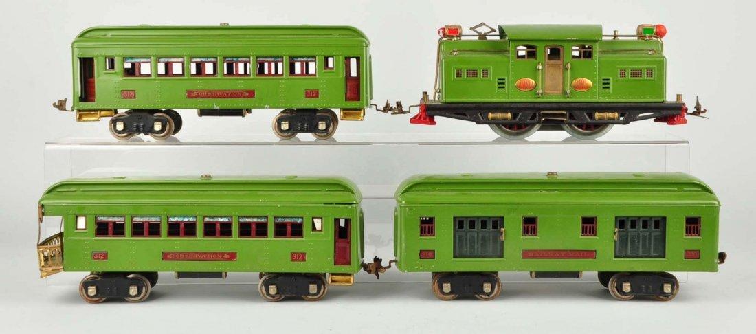 Lot of 4: Lionel No. 318E & Passenger Cars.
