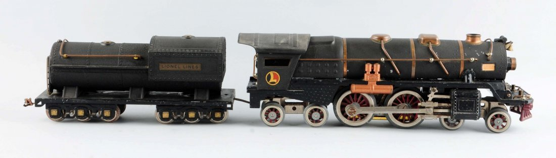 Rare Lionel Crackle Black No. 400 Engine & Tender.