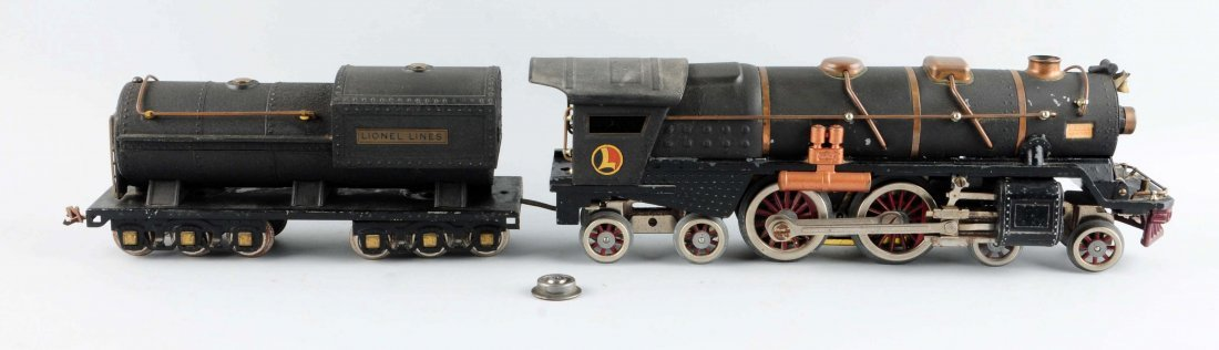 Rare Lionel Crackle Black No. 400 Engine & Tender. - 2