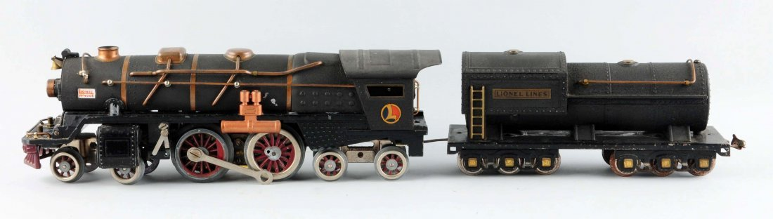 Rare Lionel Crackle Black No. 400 Engine & Tender. - 3