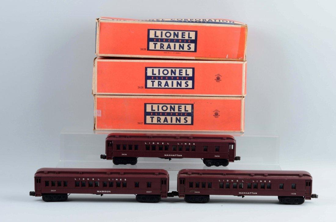 Lot of 3: Lionel Passenger Cars.