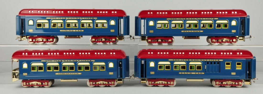 Lot Of 4: MTH Ives Passenger Cars.