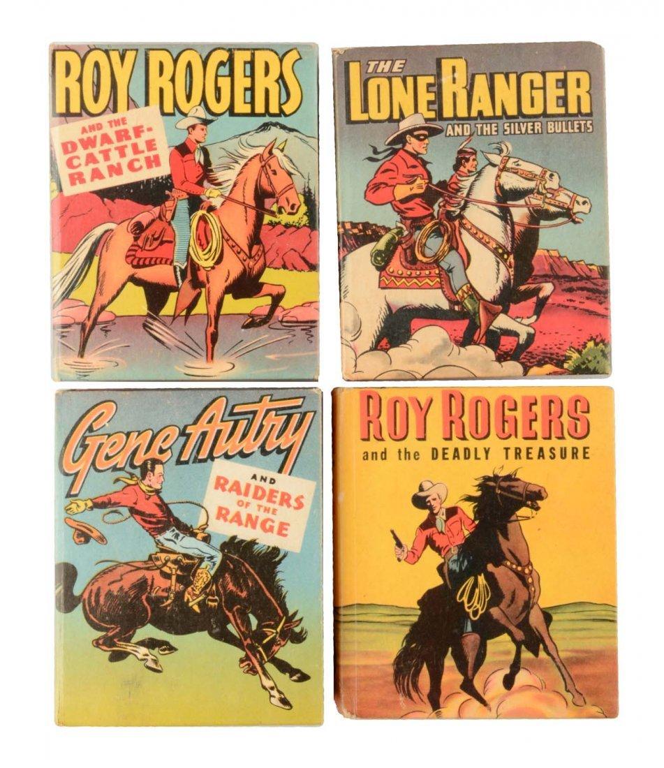 Lot Of 4: Cowboy  Big Little Books.