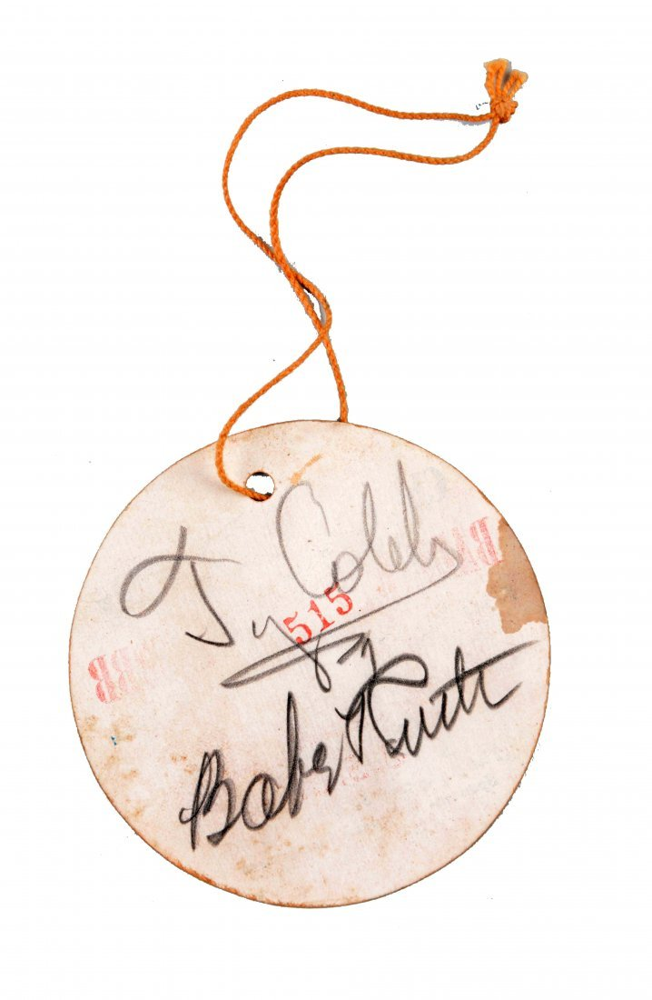 Ty Cobb & Babe Ruth Autographed Golf Tourn. Pass. - 3