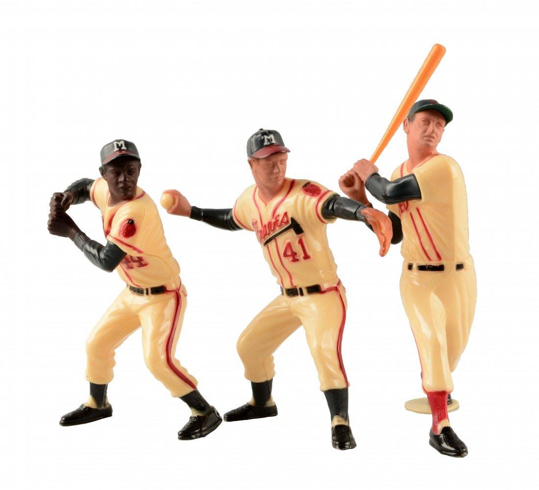 Lot Of 3: Hartland Plastic Baseball Figures.
