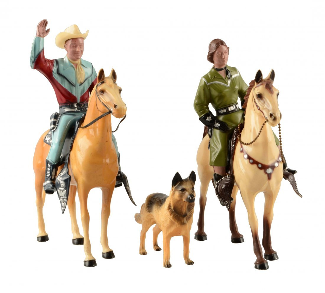 Lot Of 5: Hartland Plastic Roy Rogers & Others.