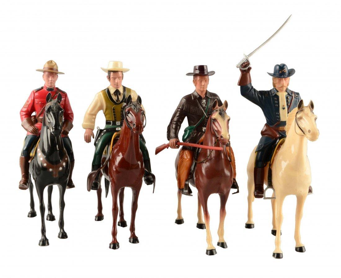 Large Lot of Hartland Plastic Figures w/ Riders.