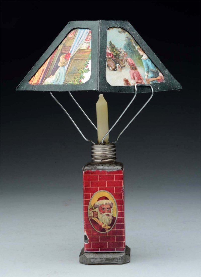 Christmas Lamp Candy Container.