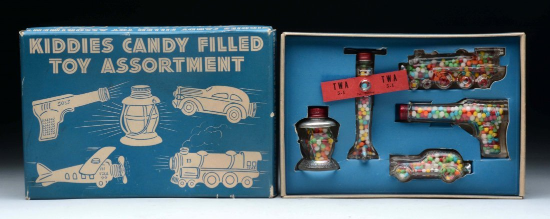 Kiddies Candy Filled Toy Assortment Candy Containers.