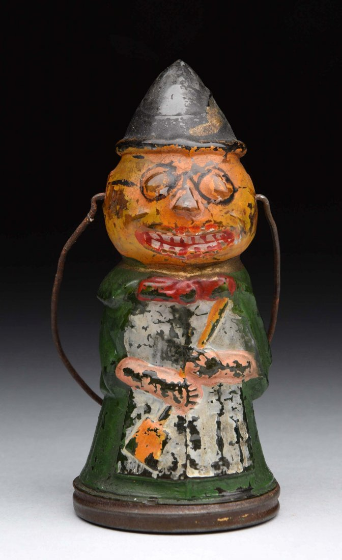 Pumpkin Head Witch Candy Container.