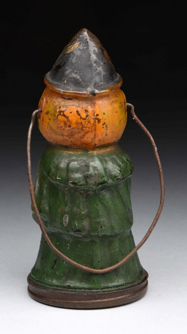 Pumpkin Head Witch Candy Container. - 2