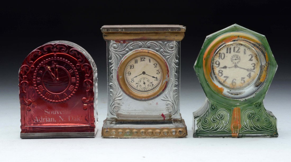 Lot of 3: Clock Candy Containers.