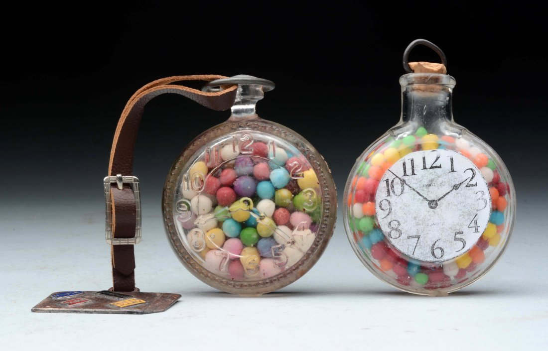 Lot of 2: Pocket Watch Candy Containers.