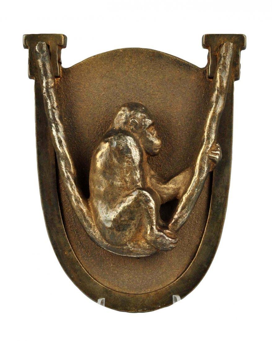 Cast Iron Monkey in Swing Doorknocker.