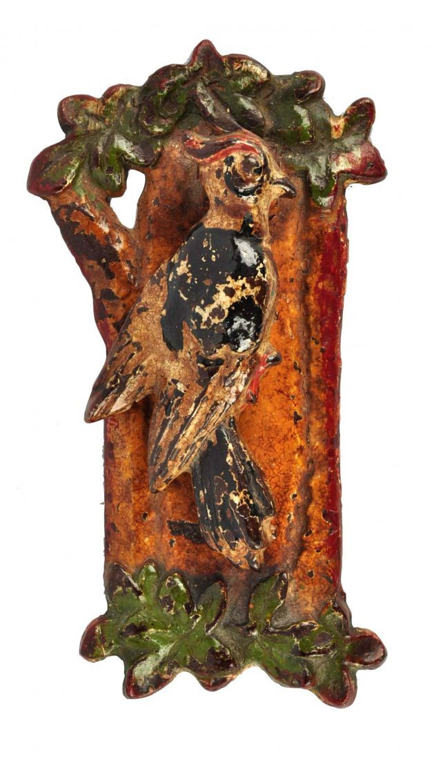 Cast Iron Woodpecker Doorknocker.