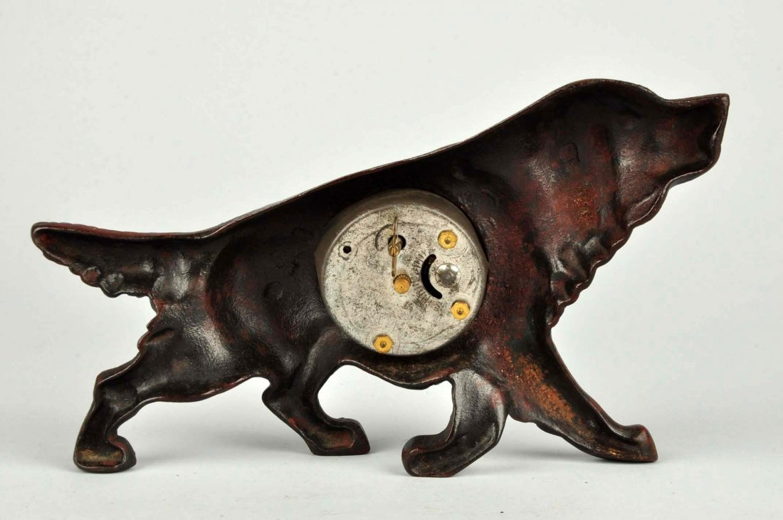 Cast Iron Retriever Dog Clock. - 2