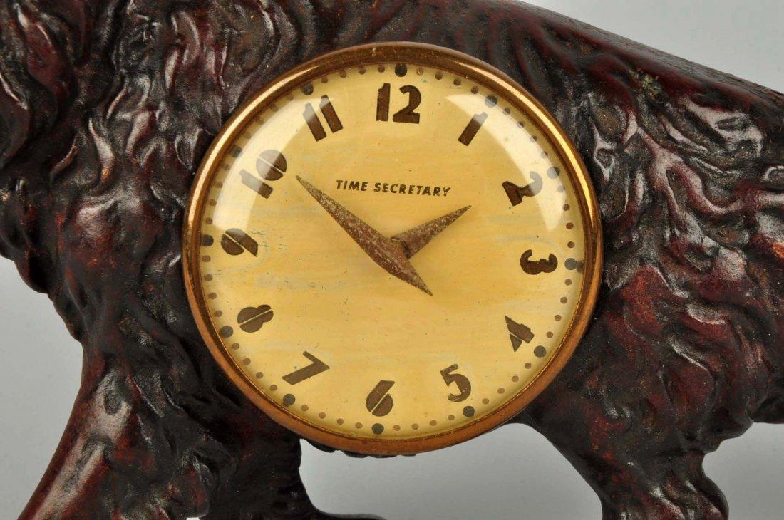 Cast Iron Retriever Dog Clock. - 3