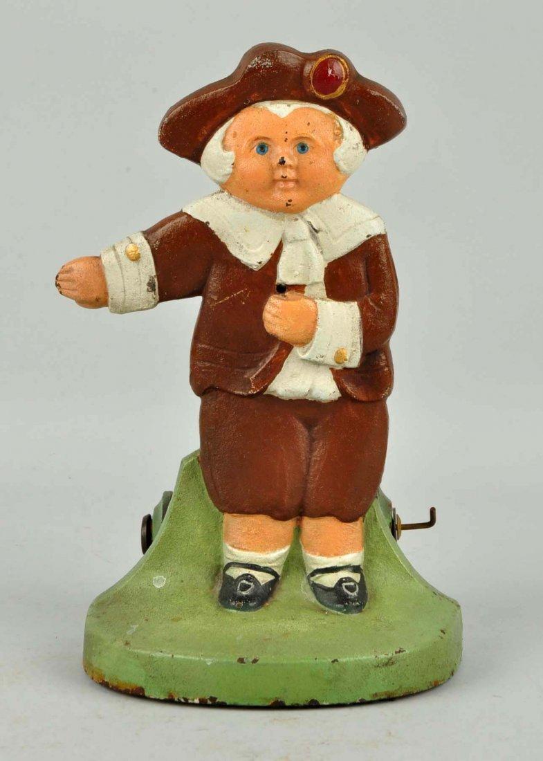 Cast Iron Pilgrim Boy Figural Stringholder. - 4