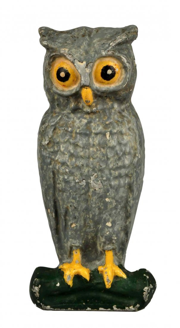Cast Aluminum Owl Wedge Doorstop.