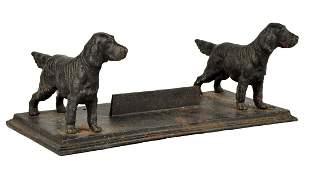 Cast Iron Setter Dog Foot Scraper.