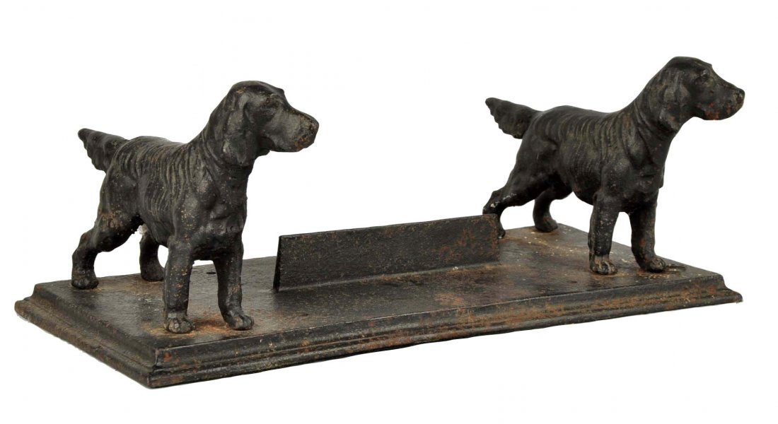 Cast Iron Setter Dog Foot Scraper.