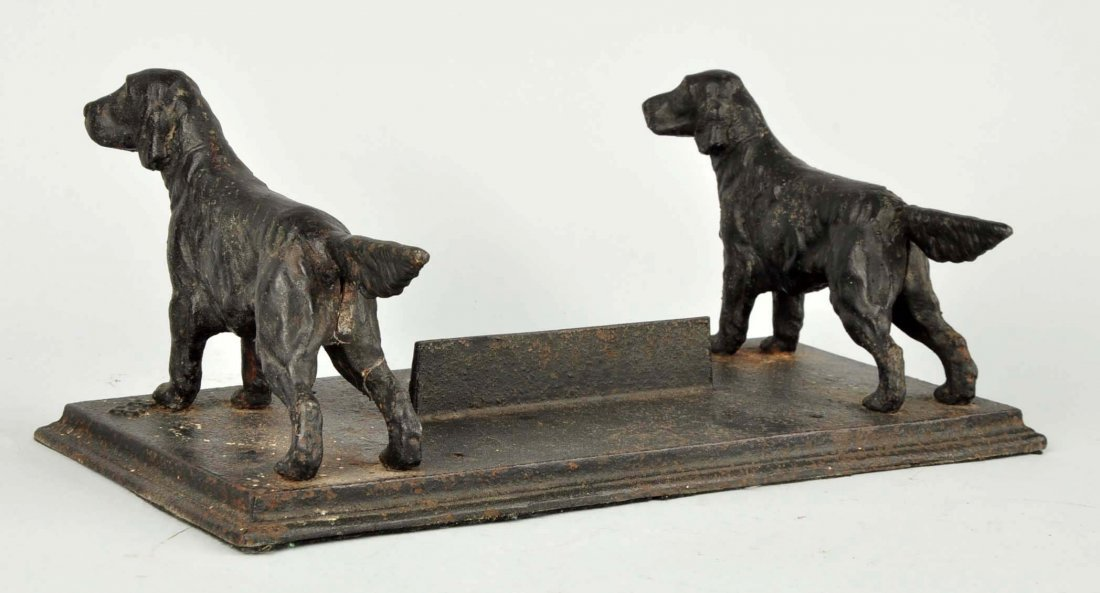 Cast Iron Setter Dog Foot Scraper. - 2