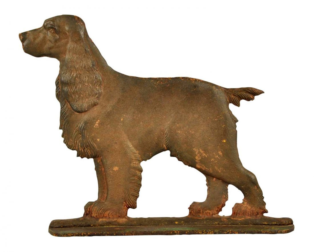 Cast Iron Cocker Spaniel Dog Foot Scraper.
