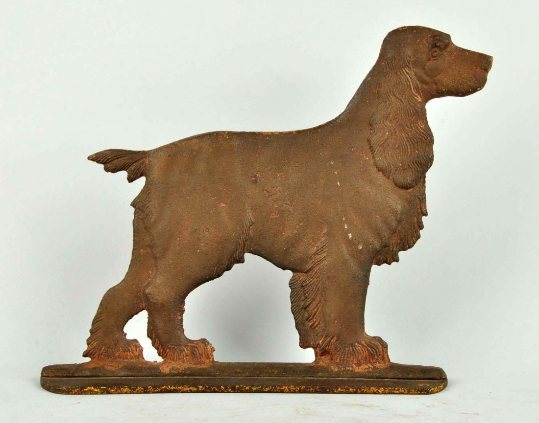 Cast Iron Cocker Spaniel Dog Foot Scraper. - 2
