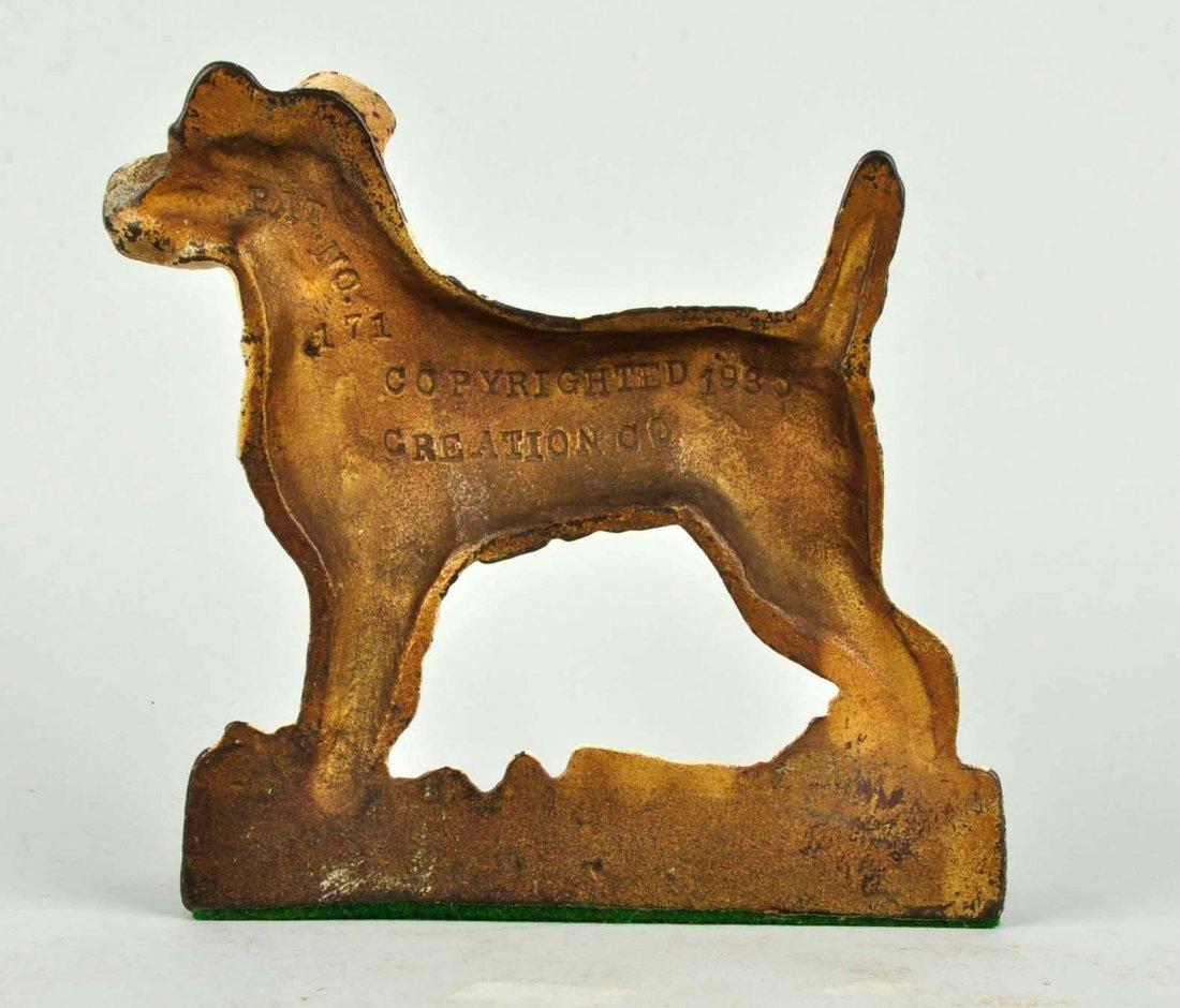 Cast Iron Wirehaired Fox terrier Doorstop. - 2