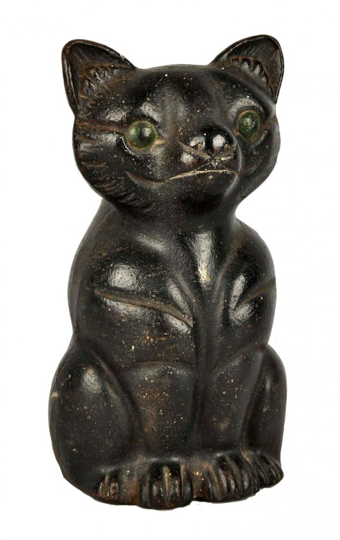 Cast Iron Fat Cat Doorstop.