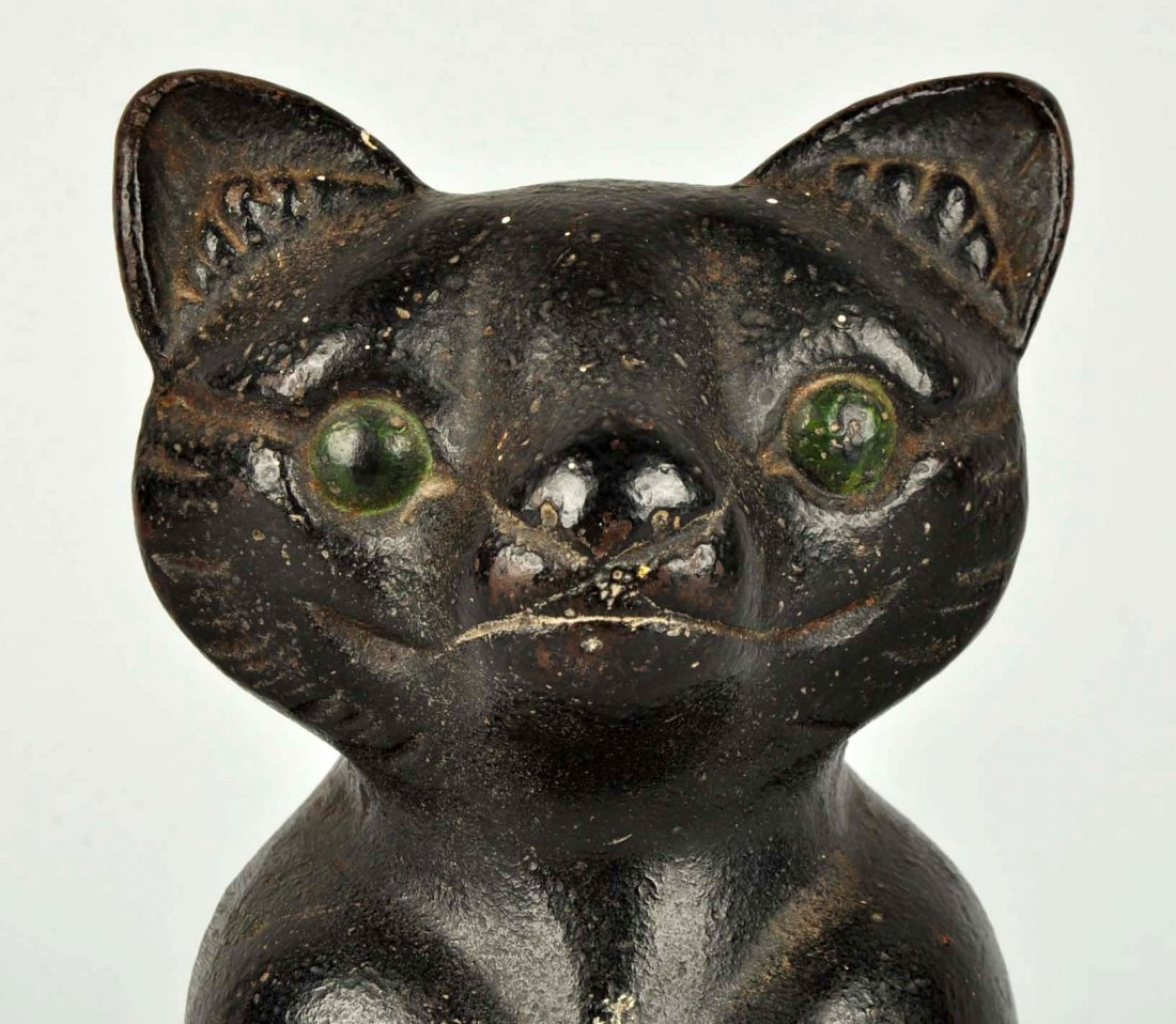Cast Iron Fat Cat Doorstop. - 3