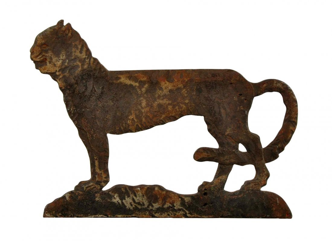 Cast Iron Cat Foot Scraper.