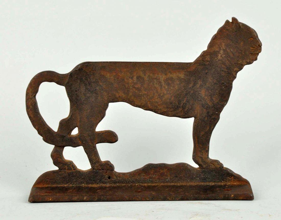 Cast Iron Cat Foot Scraper. - 2
