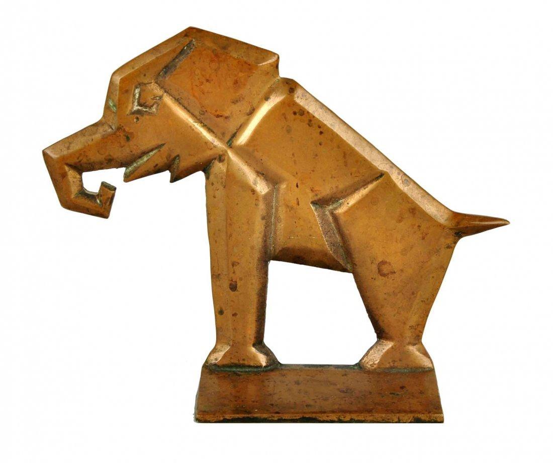 Cast Brass Elephant Doorstop.