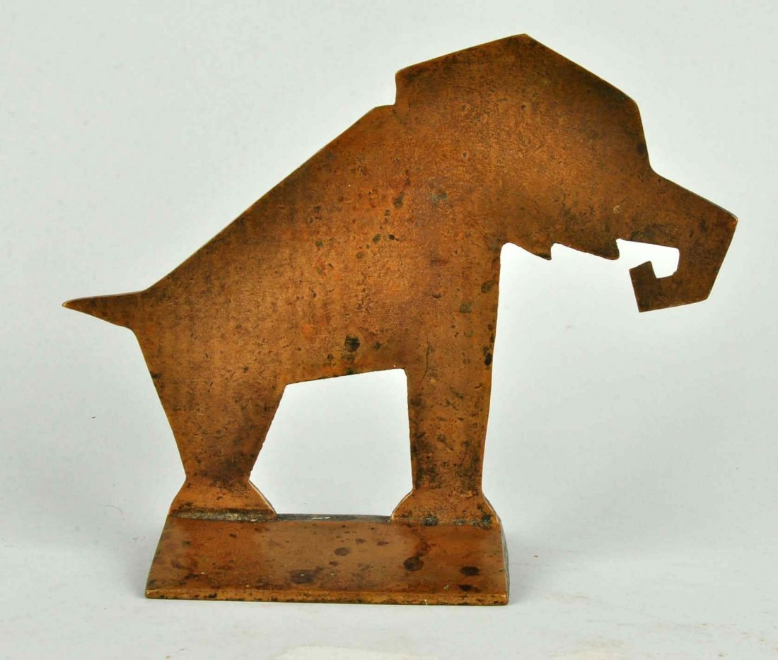 Cast Brass Elephant Doorstop. - 2