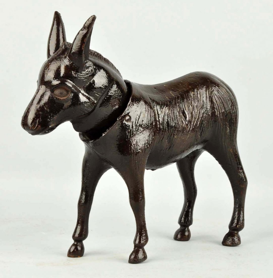 Cast Iron Donkey Doorstop. - 5