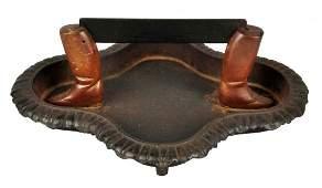 Cast Iron Riding Boots Foot Boot Scraper.