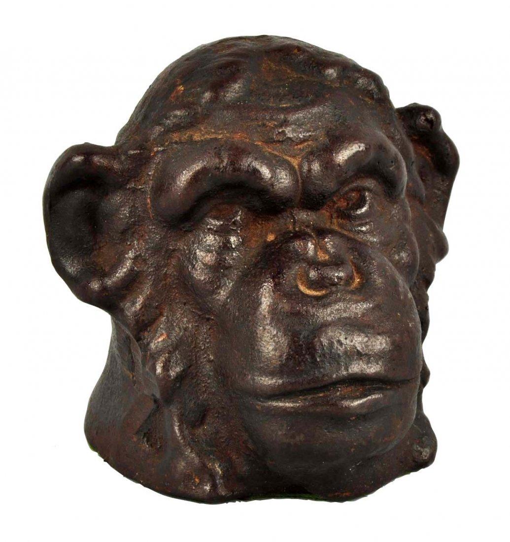 Cast Iron Monkey's Head Doorstop.
