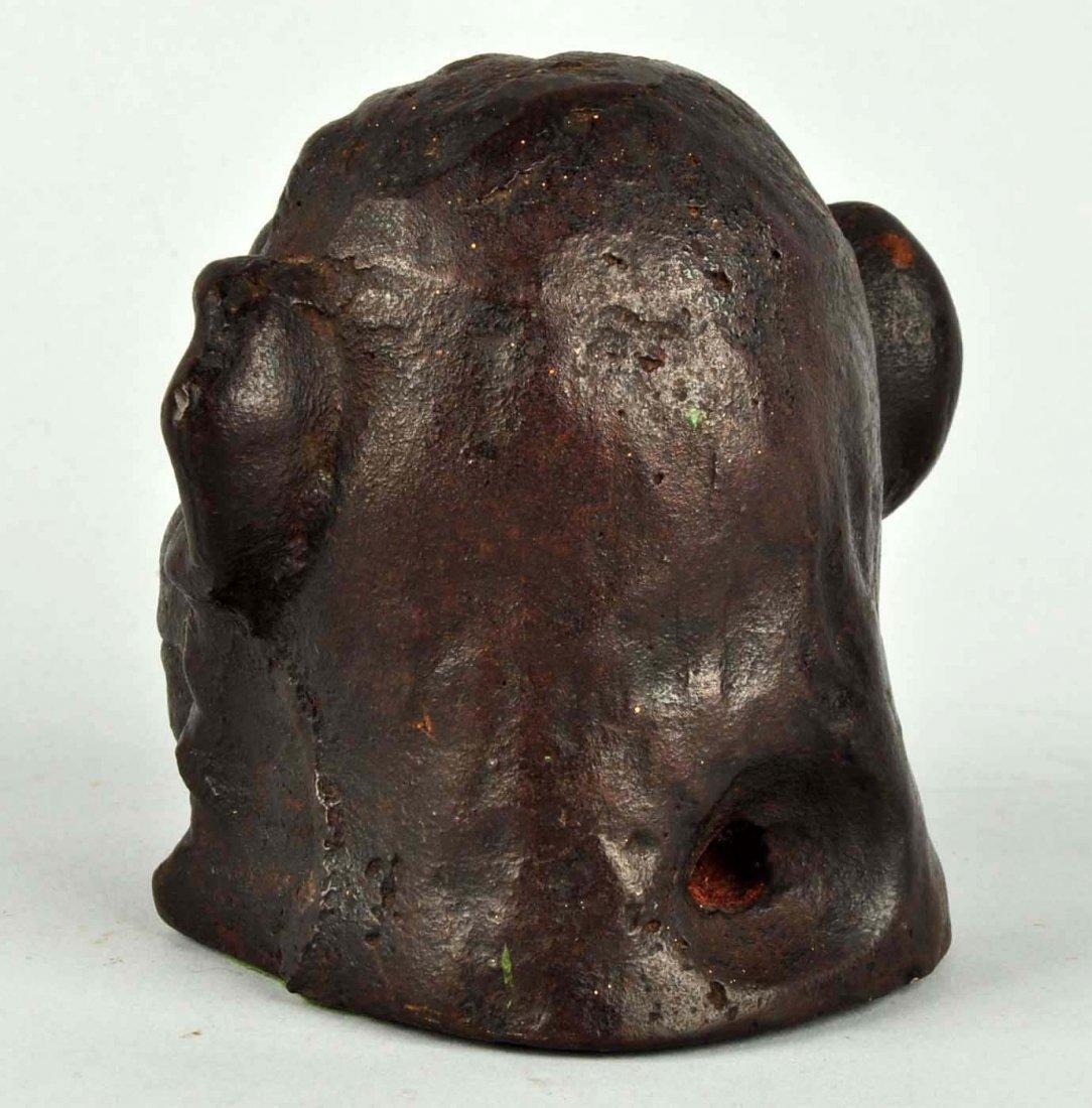 Cast Iron Monkey's Head Doorstop. - 2