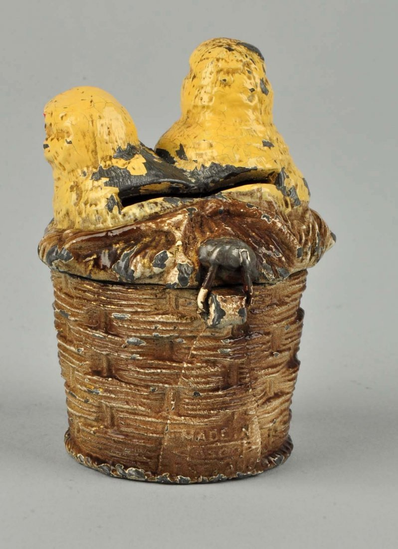 Peeps in Basket Still Bank. - 2