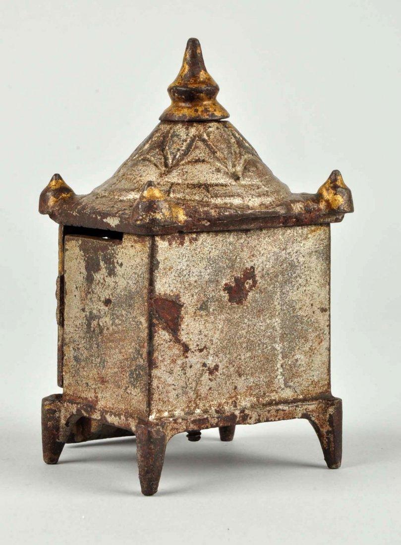 English Pagoda Cast Iron Still Bank. - 2