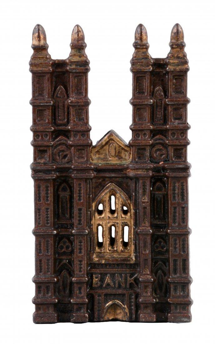 Westminster Abbey Cast Iron Still Bank.
