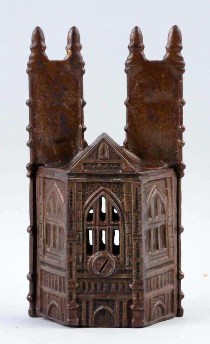 Westminster Abbey Cast Iron Still Bank. - 2