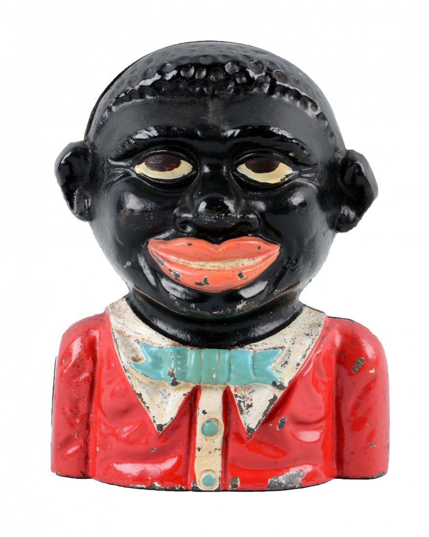 Black Boy Cast Iron Still Bank.
