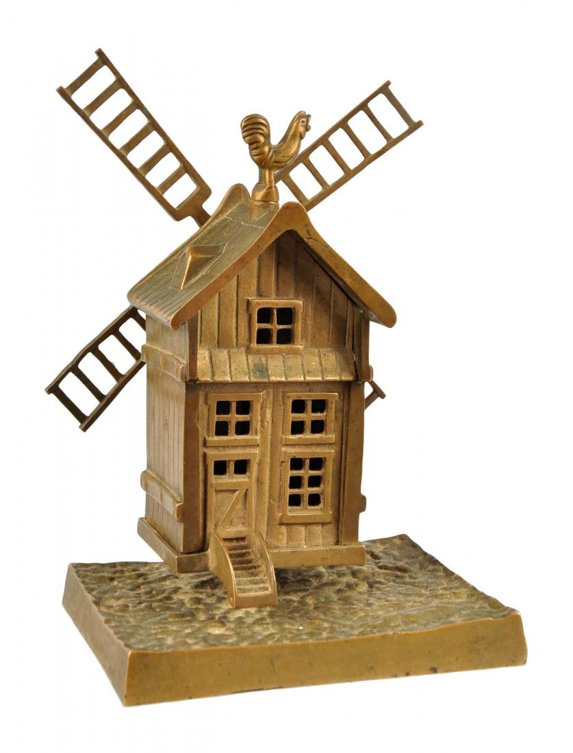 Windmill Brass Still Bank.