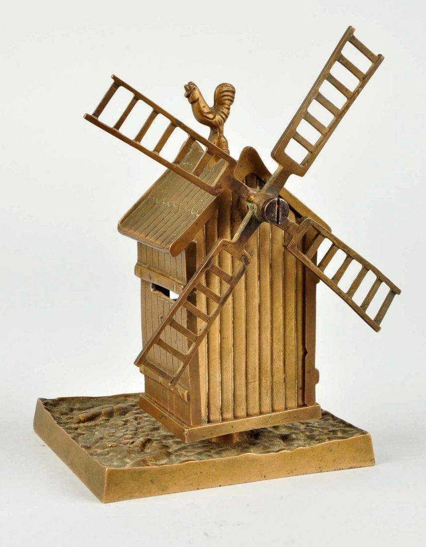 Windmill Brass Still Bank. - 2